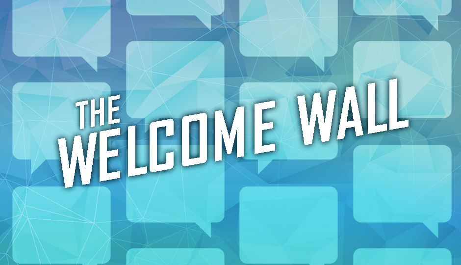 The Welcome Wall graphic